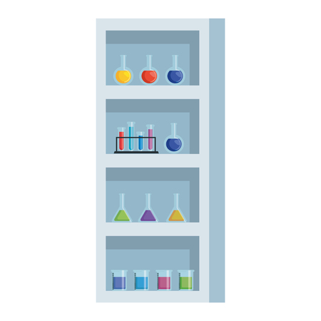 laboratory shelving isolated icon vector illustration design Banque d'images - 121027609