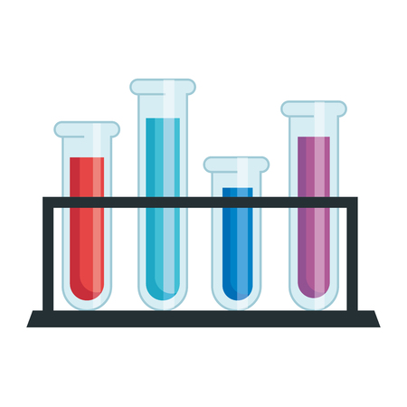 tubes test in holder vector illustration design