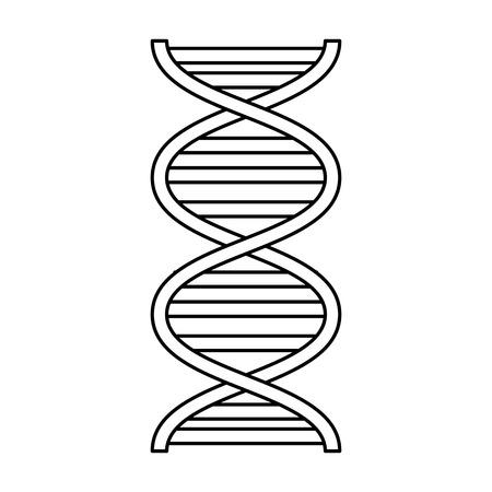 DNA-Molekül Wissenschaft Symbol Vektor Illustration Design icon