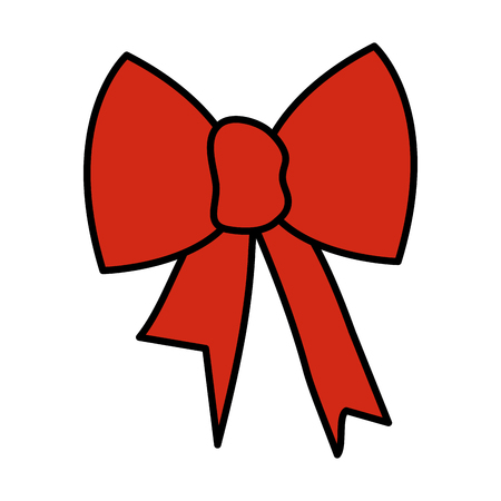 ribbon bow decorative icon vector illustration design Illusztráció