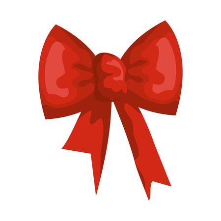 ribbon bow decorative icon vector illustration design Ilustracja
