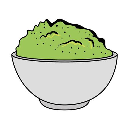 delicious guacamole sauce icon vector illustration design Illustration