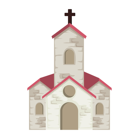 church facade building icon vector illustration design Illustration
