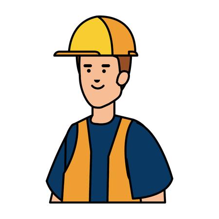 builder worker with helmet vector illustration design Ilustrace