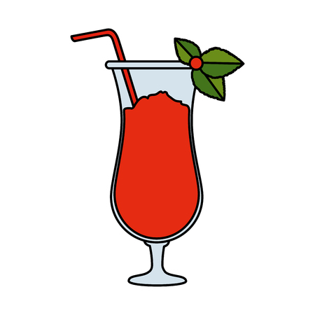 tropical cocktail beverage icon vector illustration design Banco de Imagens - 123350048