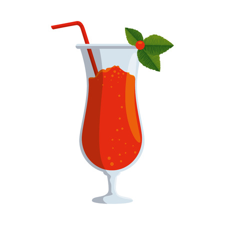 tropical cocktail beverage icon vector illustration design 版權商用圖片 - 123350065