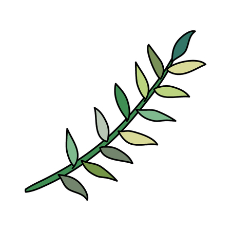 branch with leafs icon vector illustration design