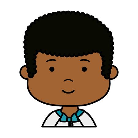 little black boy first communion character vector illustration design Archivio Fotografico - 121095765