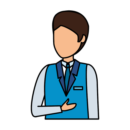 flight attendant avatar character vector illustration design Vettoriali