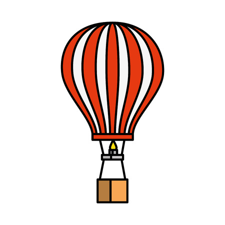 balloon air hot flying vector illustration design Foto de archivo - 123351291