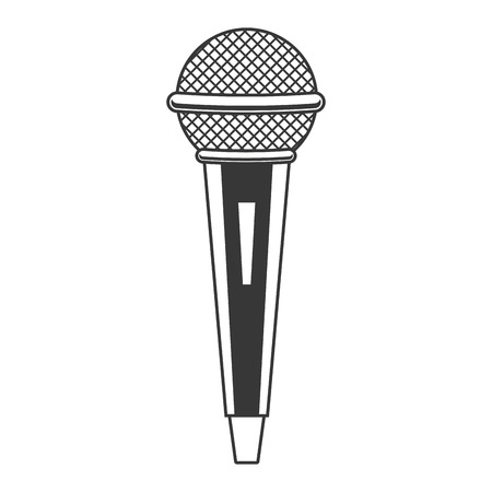 microphone sound retro icon on white background vector illustration 向量圖像