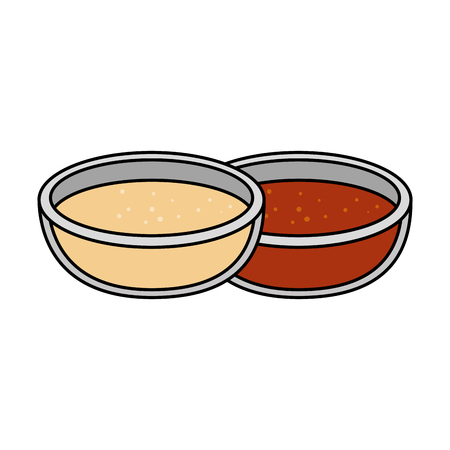 tomato and mayonnaise sauces vector illustration design Illustration