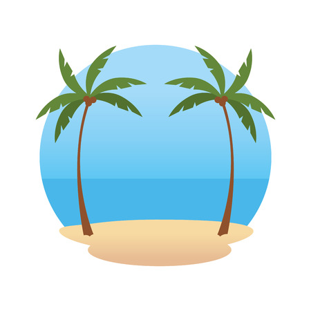 beach landscape scene icon vector illustration design Stock fotó - 123351492