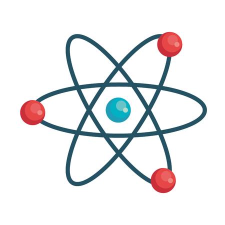 Progettazione dell'illustrazione di vettore dell'icona isolata molecola dell'atomo