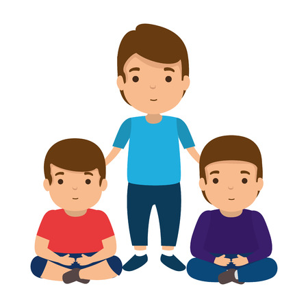 father with sons characters vector illustration design Stock Vector - 121096346