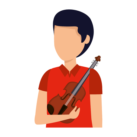 professional violinist avatar character vector illustration design Stockfoto - 123351801