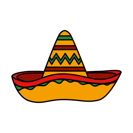 mexican hat mariachi icon vector illustration design Foto de archivo - 123300396