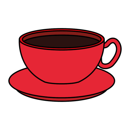coffee cup beverage icon vector illustration design Çizim