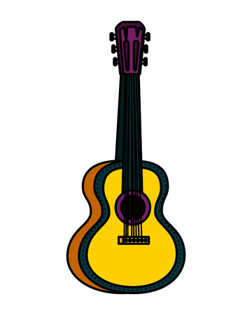 acoustic guitar instrument icon vector illustration design Illusztráció