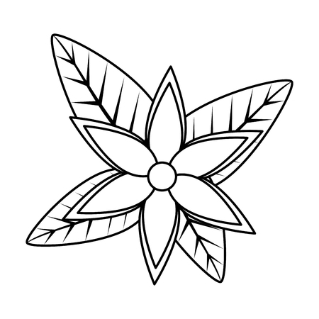 flower with leafs icon vector illustration design Ilustrace