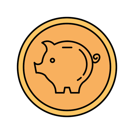 piggy savings isolated icon vector illustration design Ilustrace