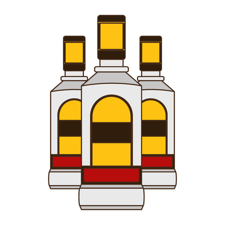 tequila bottles liquor on white background vector illustration