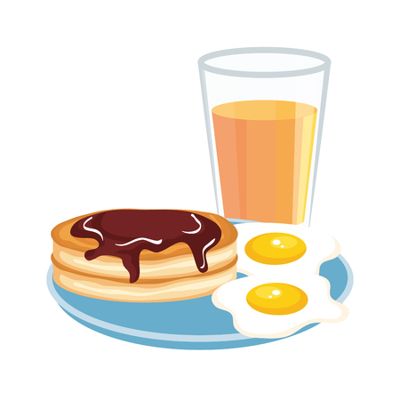 delicious breakfast menu icons vector illustration design Çizim
