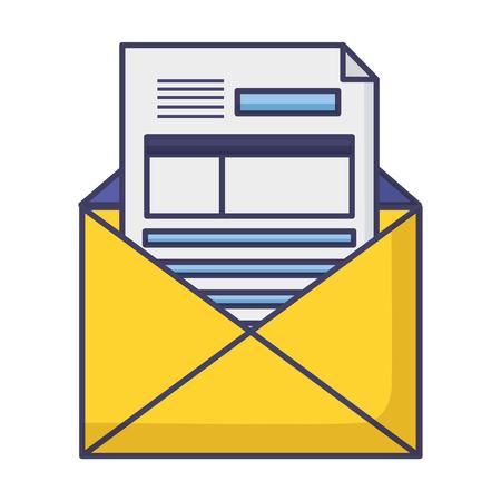 mail document tax report vector illustration design Standard-Bild - 121136972