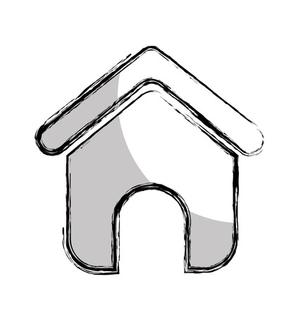 house silhouette isolated icon vector illustration design 스톡 콘텐츠 - 123305040