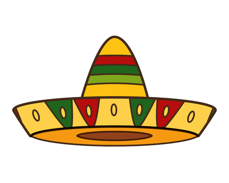 mexican hat traditional icon on white background vector illustration 写真素材 - 123305150