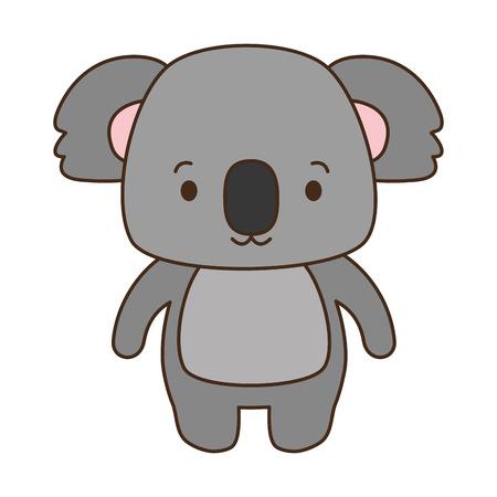 cute koala animal cartoon vector illustration design Stock Illustratie