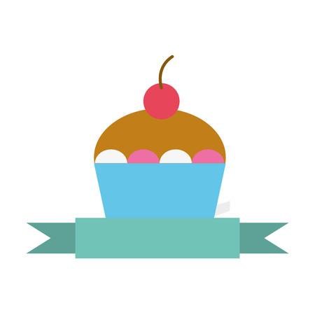 delicious cake isolated icon vector illustration design