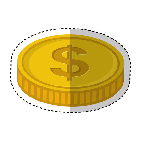 coin money isolated icon vector illustration design Banque d'images - 123305507