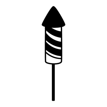 carnival rocket fireworks festive vector illustration design
