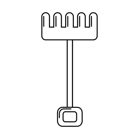 rake tool gardening on white background vector illustration Illusztráció