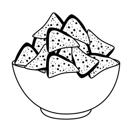 delicious nachos mexican food vector illustration design