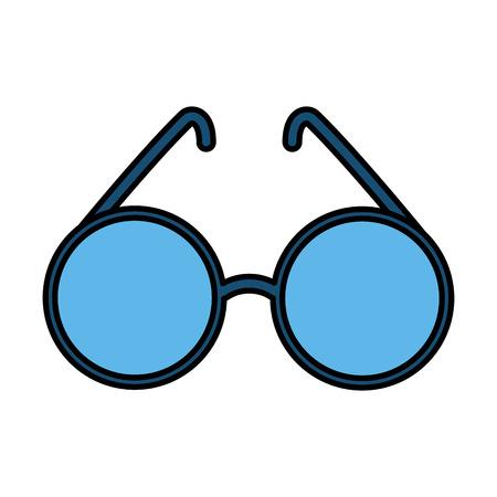 cute sunglasses isolated icon vector illustration design