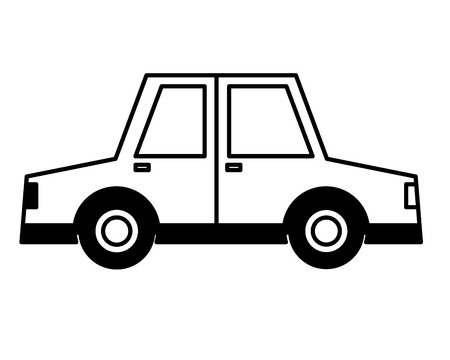 car vehicle side view icon vector illustration design
