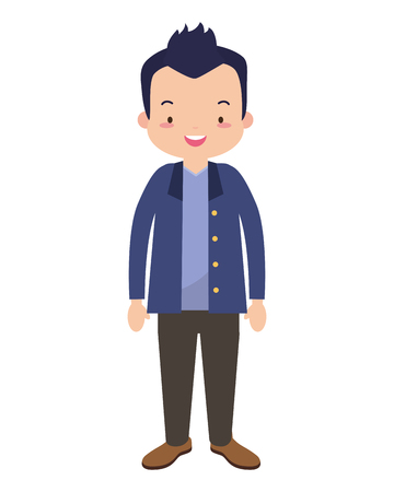 man character cartoon on white background vector illustration design 向量圖像