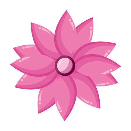 flower petals decoration on white background vector illustration  イラスト・ベクター素材