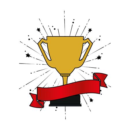Trophée coupe prix icône vector illustration design