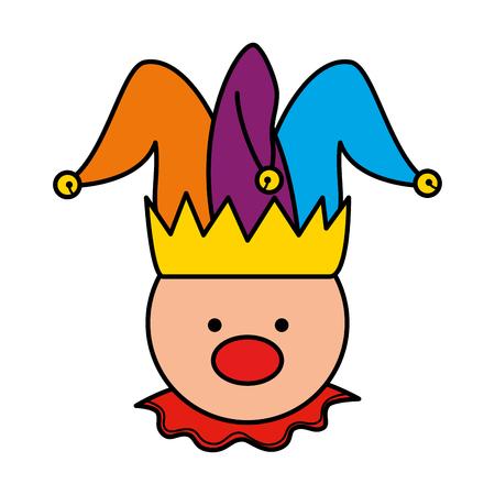 fools day joker character vector illustration design