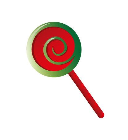 süße Weihnachtssüßigkeit Symbol Vektor Illustration Design