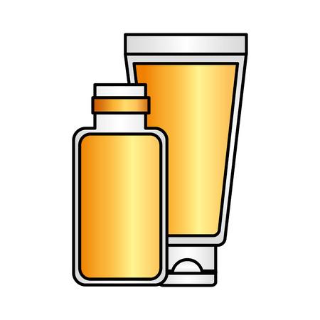 cosmetics tube spa treatment therapy vector illustration