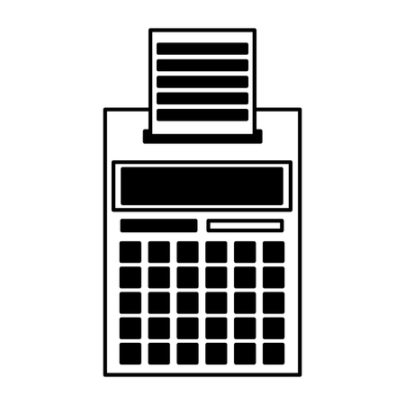 calculator printed receipt tax payment vector illustration Standard-Bild - 123231965