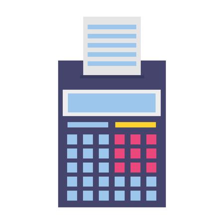 rechner gedruckte quittungssteuerzahlungsvektorillustration