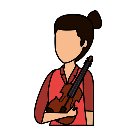 female professional violinist character vector illustration design Stockfoto - 123232080