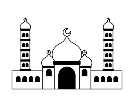 taj mahal ancient palace india vector illustration design