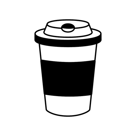 disposable coffee cup on white background vector illustration Illusztráció