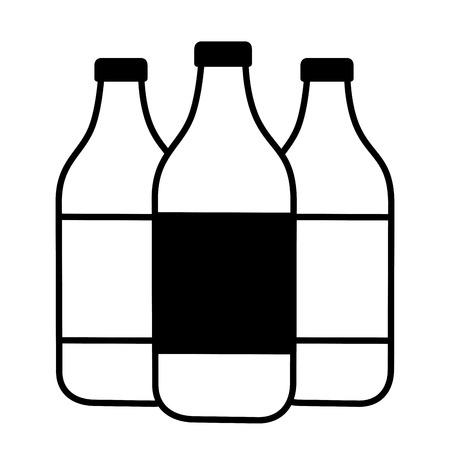 water bottles icon on with background vector illustration Vektoros illusztráció